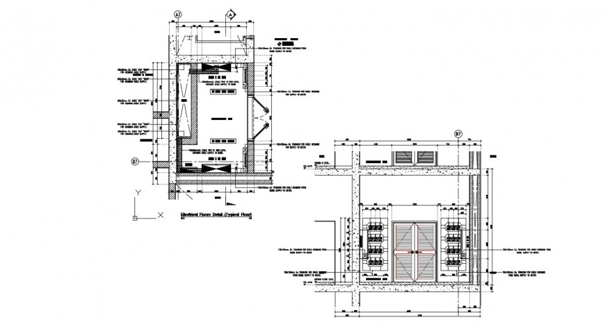 Electrical room section autocad software file
