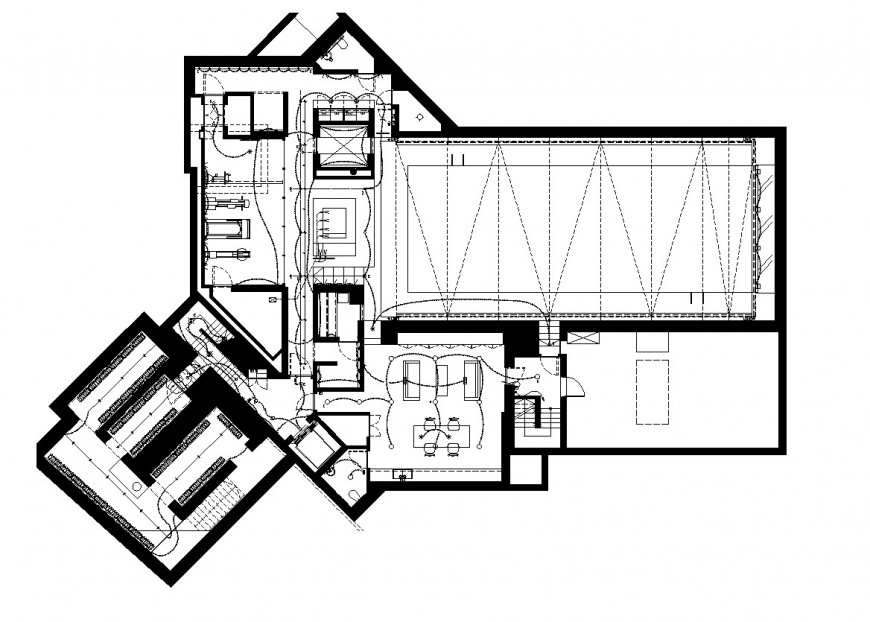 Electrical small office plan autocad file