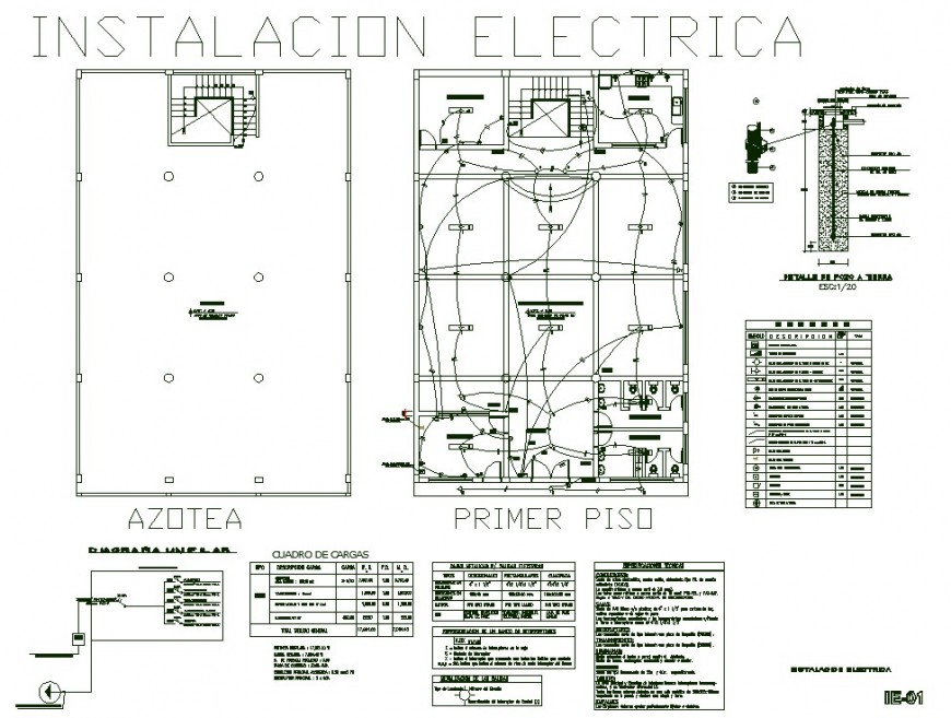 Electrical top view plan AutoCAD file.