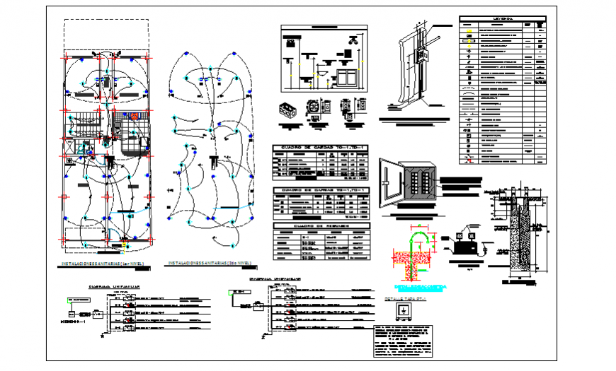 Electrification installation design drawing project of unfamiliar house design