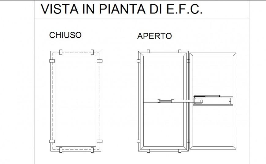 Electronic door front elevation detail dwg file