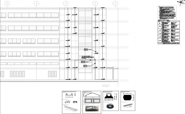 elevation and exterior led lighting  specification detail