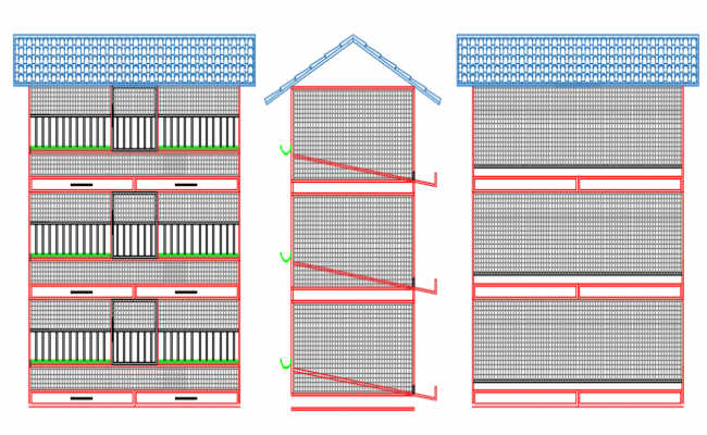 elevation of a building dwg file