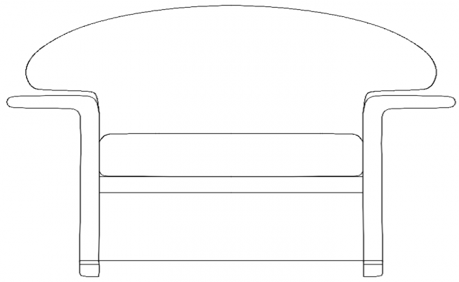 elevation of a couch dwg file