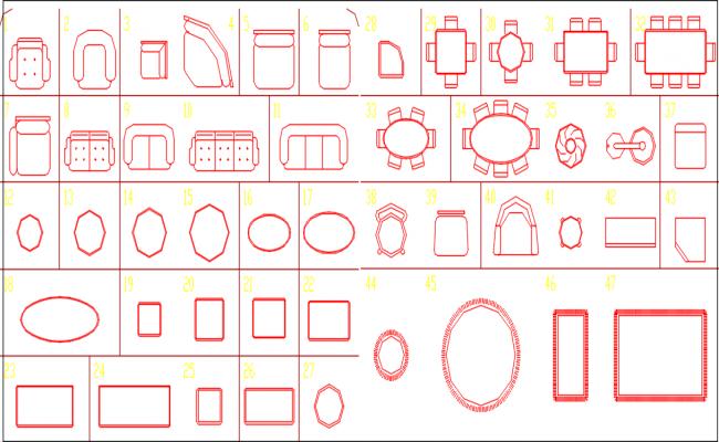 elevation of furniture dwg file