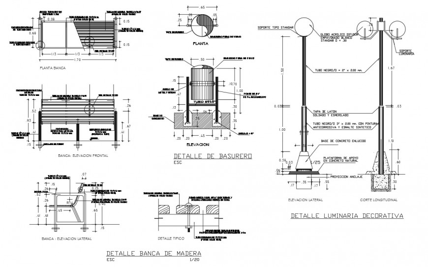 Elevation and plan of garden automation units 2d view dwg file