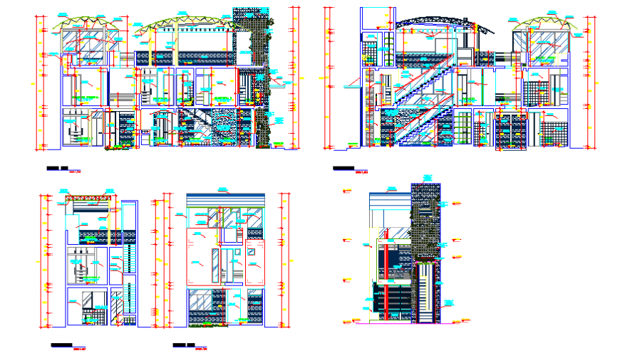 Elevation design drawing of single family home project design