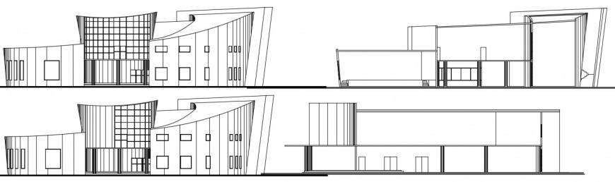 Elevation design of a big building model