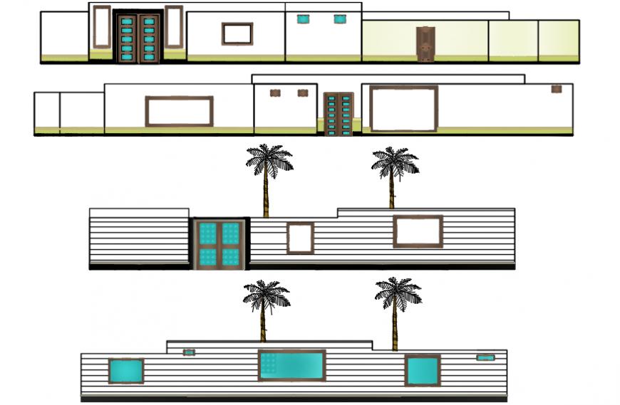Elevation design of corporate office autocad software file