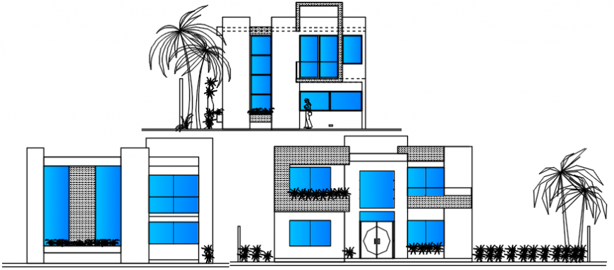 Elevation design of residence house