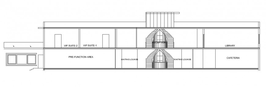 elevation design of school building cad file
