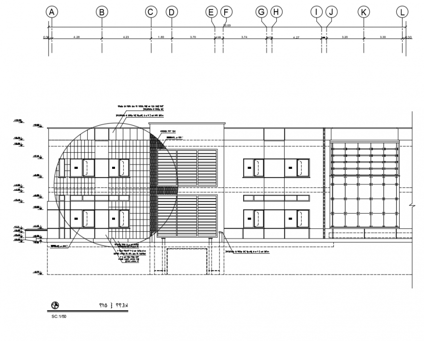 Elevation drawing of house dwg file