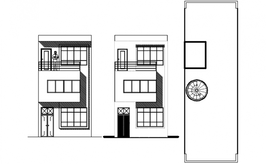 Elevation drawings of apartment autocad software file