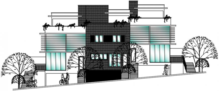 elevation of a bungalow  2d