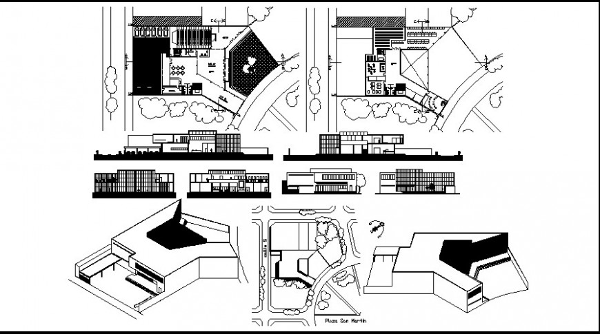 elevation of a bungalow details