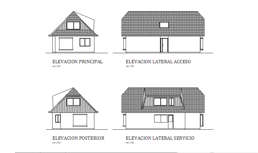 Elevation of Flat architecture housing design drawing