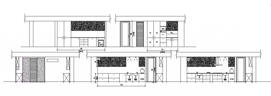 Elevation of house in AutoCAD file