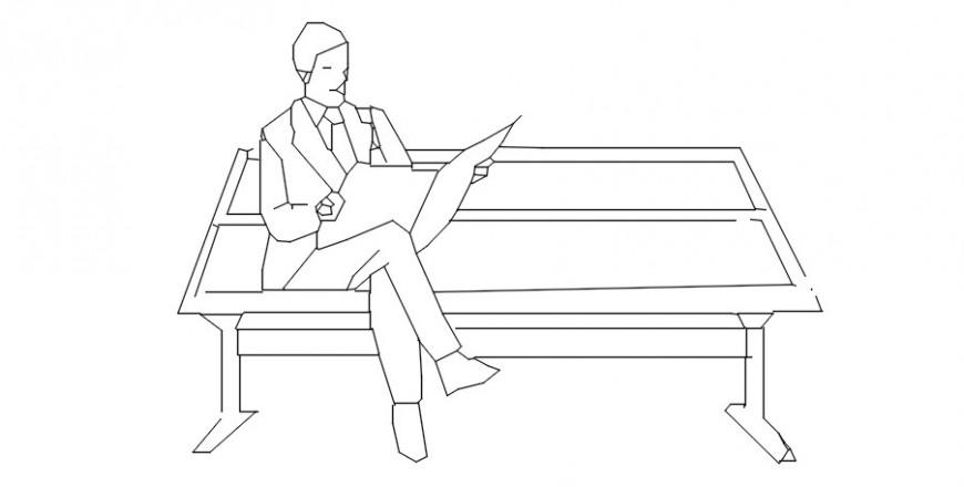 Elevation of men people units blocks drawings details in autocad file
