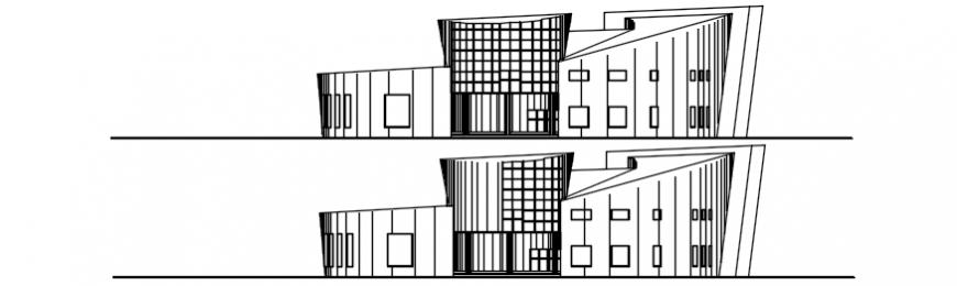 Elevation of school area in AutoCAD file