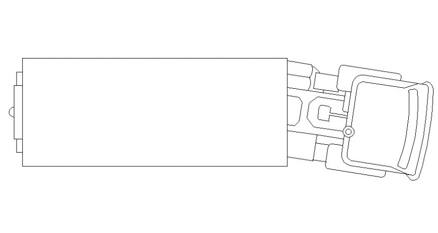 Elevation of truck details 2d drawing of a vehicle in autocad