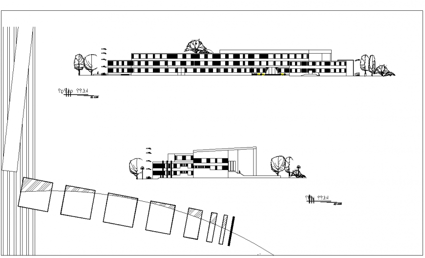 Elevation school of arts and architecture layout detail