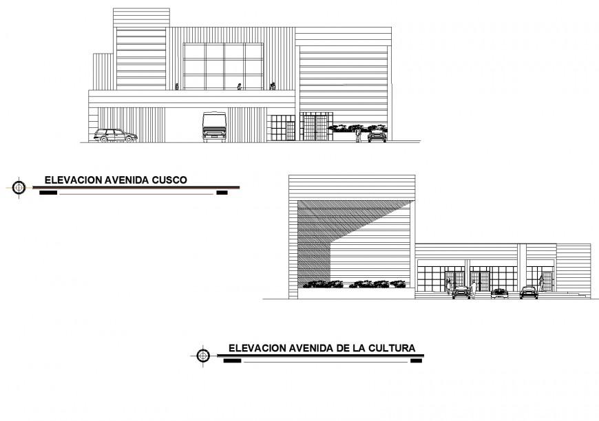 Elevation show room autocad file