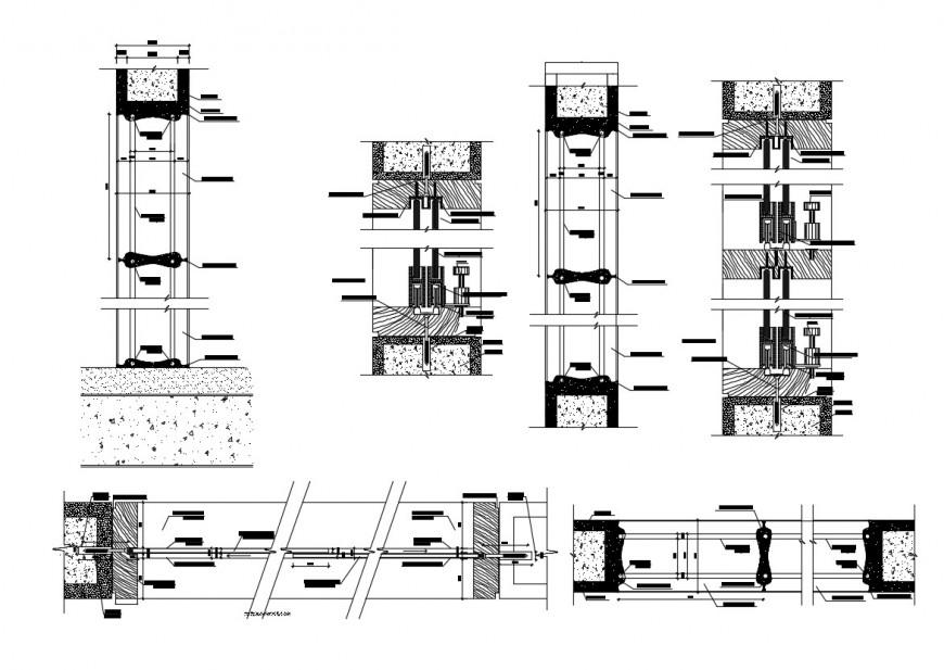 Elevator block detail 2d view autocad file