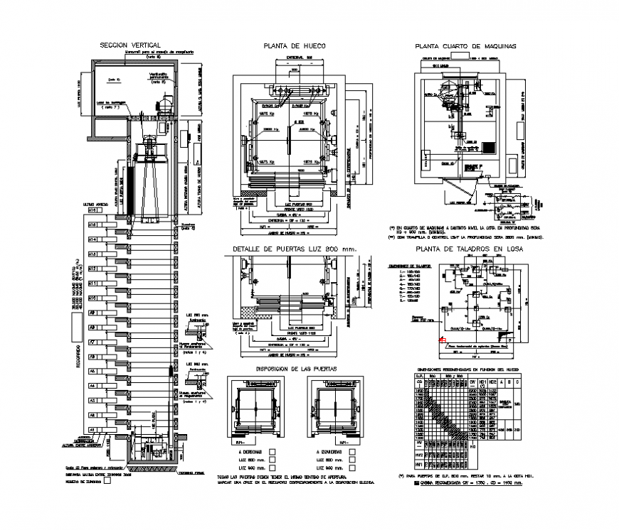 Elevator machinery CAD structure layout autocad file