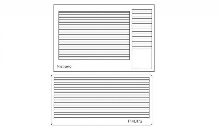 Embedded air condition elevation block drawing details dwg file