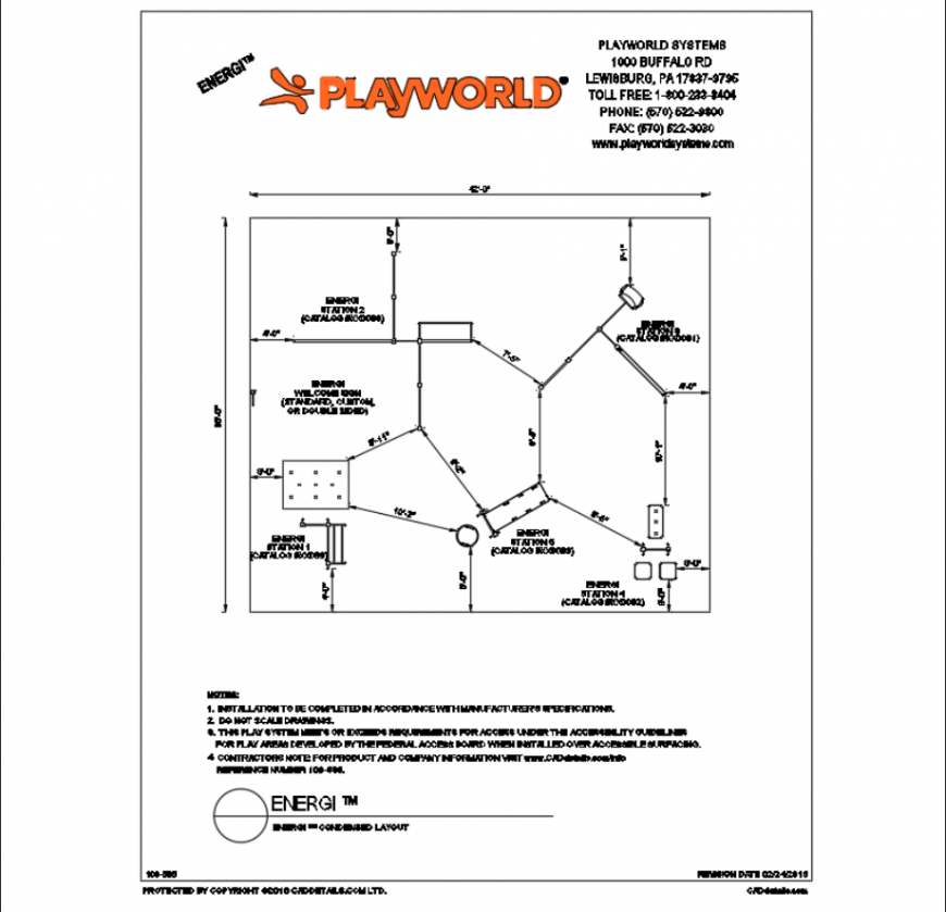 Energy condensed layout plan structure of children park dwg file