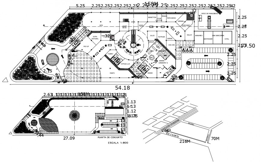 Engineering and architecture college distribution plan drawing details dwg file