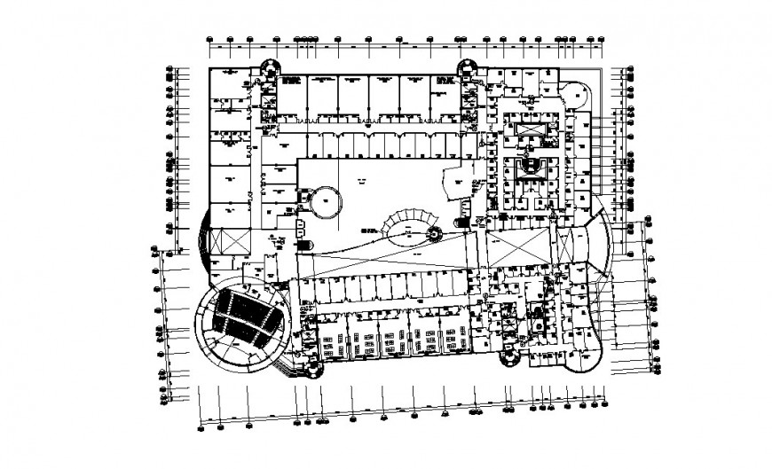 Engineering college building architecture layout plan cad drawing details dwg file