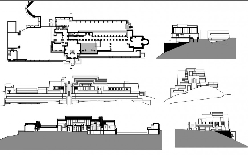 ennis houses drawing cad file