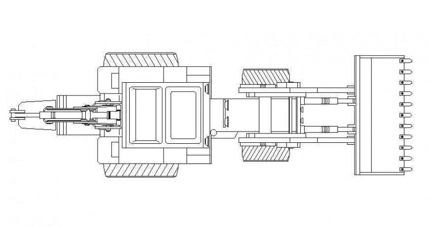 Excavator machinery bulldozer civil construction equipment drawing
