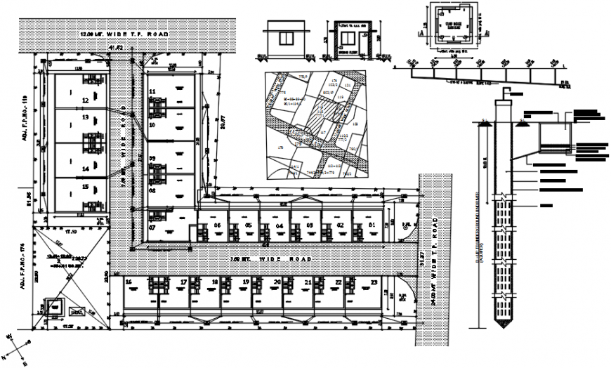 Existing apartment building site layout plan cad drawing details dwg file