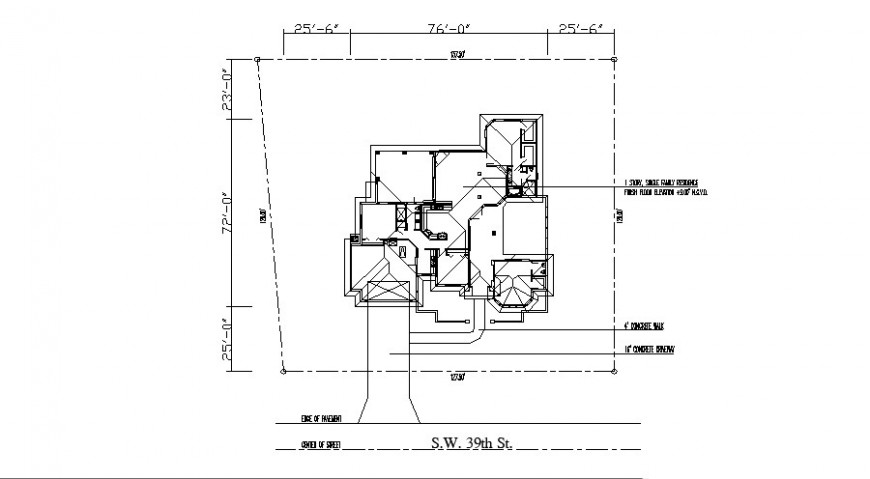 Existing house floor framing plan structure auto-cad drawing details dwg file