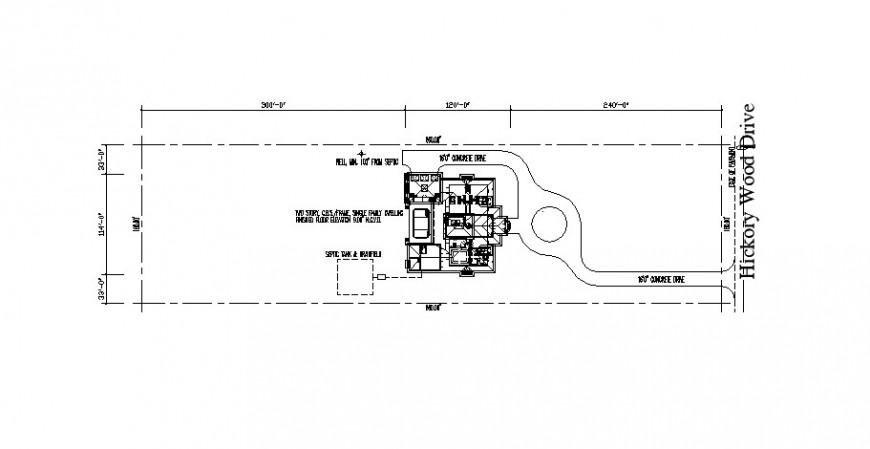 Existing house site layout plan auto-cad 2d drawing details dwg file