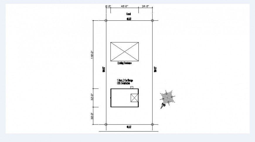 Existing residence site plan cad drawing details dwg file