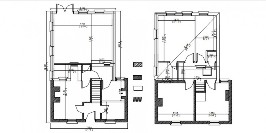 Extension to house framing plans structure drawing details dwg file