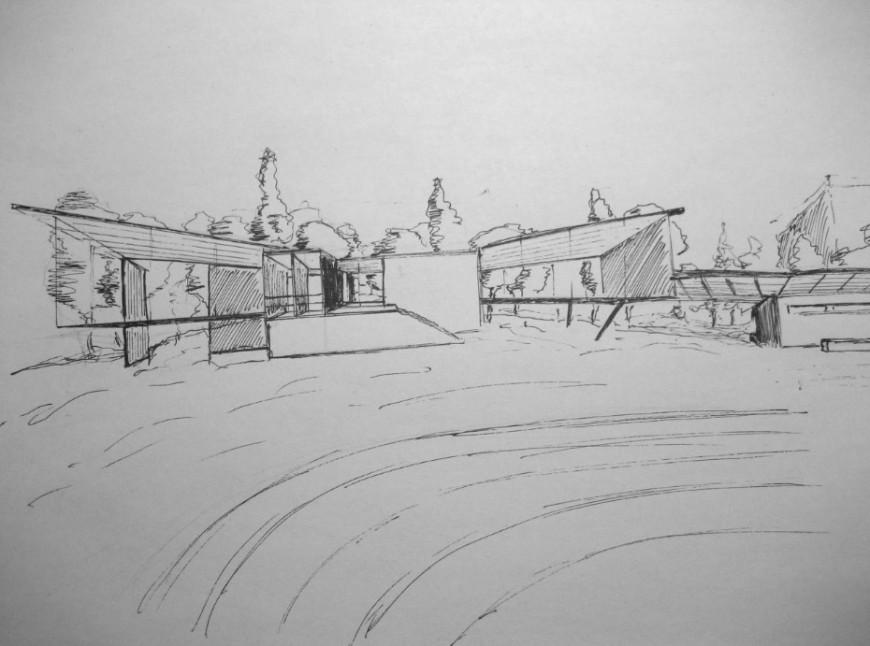 Exterior ground view detail sketch file detail