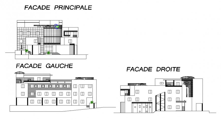 Exterior view of high rise building design