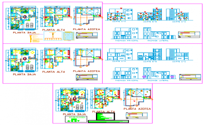 Single family stay residential house design drawing