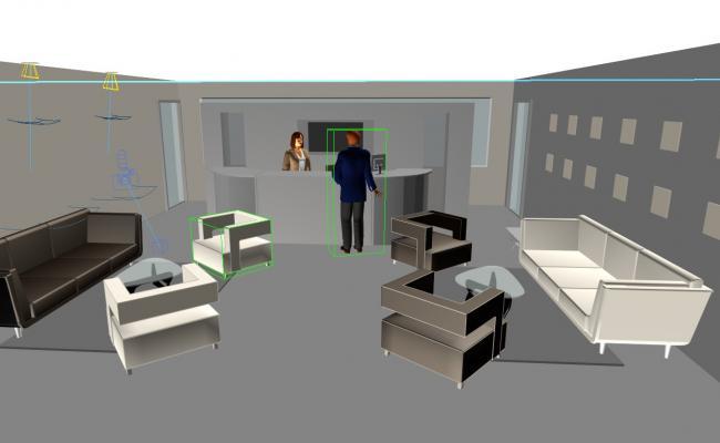 3d reception area