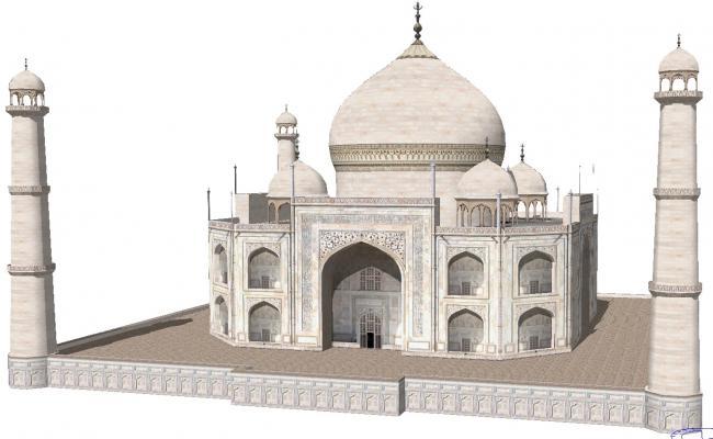 Taj Mahal 3d Image: 3d Taj Mahal Model