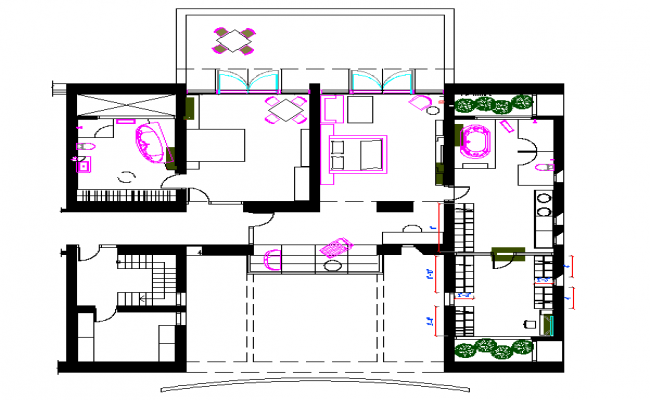 Bungalows Lay-out