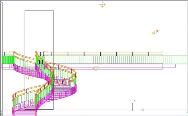 Spiral stair 3d in cad