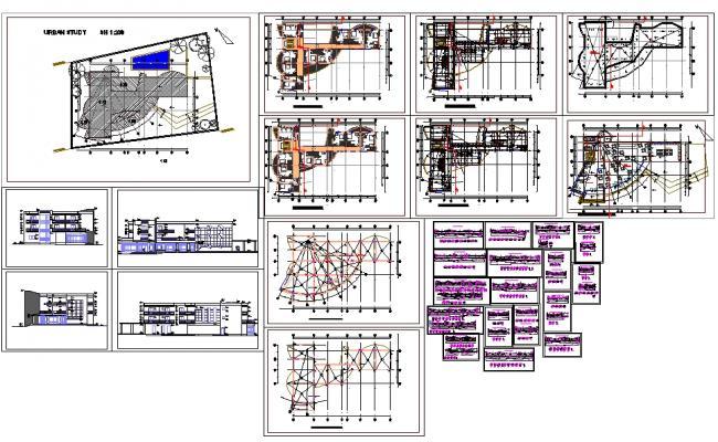 3 Floor Hotel plan