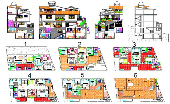 5 star hotel layout design plan