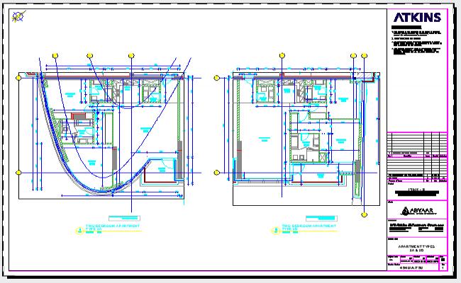 2 Bed Room Apartment design