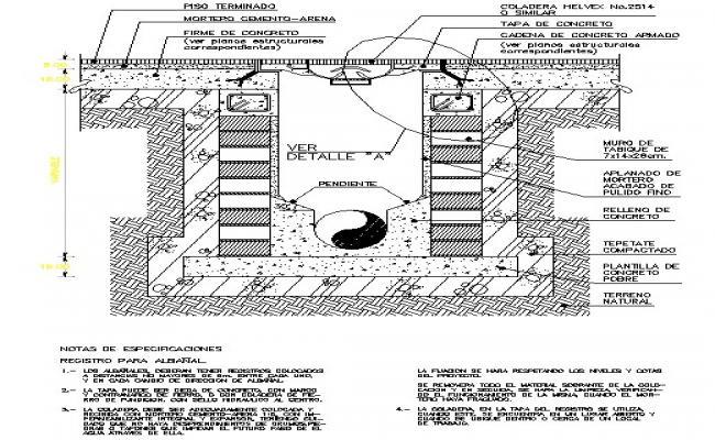 Water Drainage Tank detail